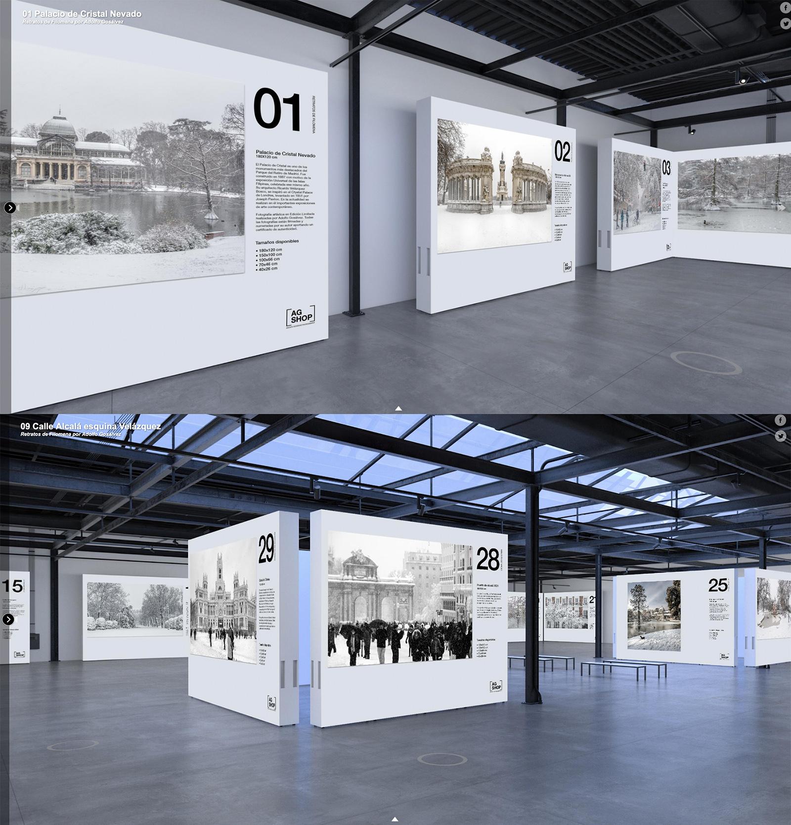 Exposición Virtual 360 de la Gran Nevada Filomena por Adolfo Gosálvez